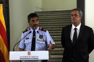 Trapero y Forn, durante una rueda de prensa tras los atentados del pasado 17 de agosto.