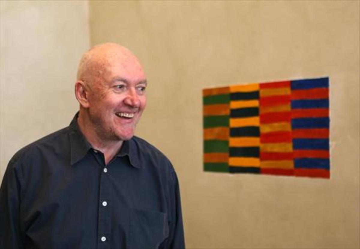 El artista irlandés Sean Scully.
