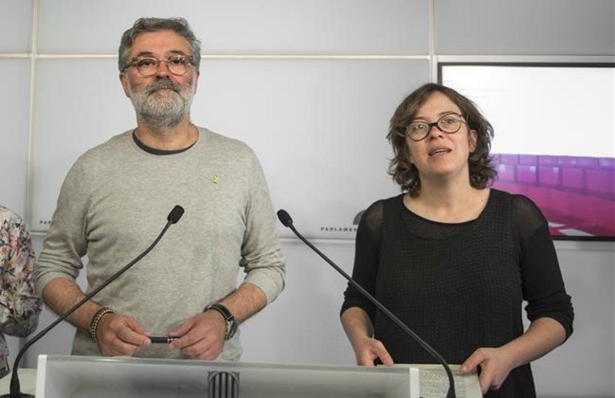 Carles Riera y Eulàlia Reguant.