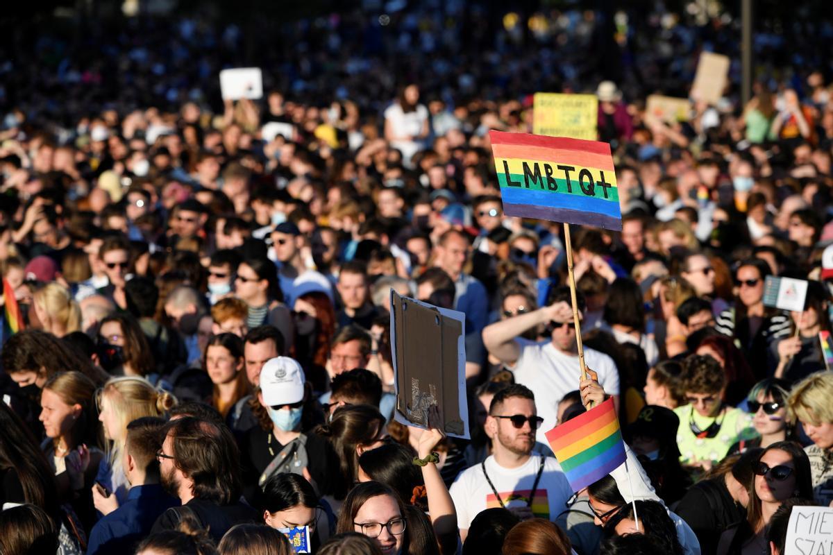 Manifestación en Budapest el pasado mes de junio contra el Gobierno del primer ministro Viktor Orbán.