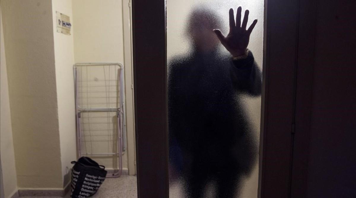 Una mujer víctima de violencia machista en Málaga.
