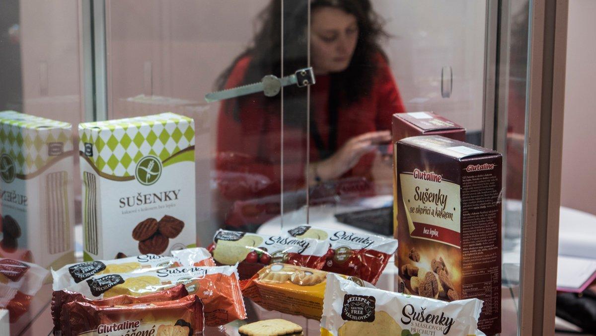 Productos sin gluten en el último salón Alimentaria, en Barcelona.