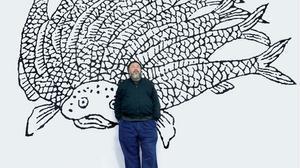 Anuncio de la exposición de Ai Weiwei en el centro comercial Bon Marché.