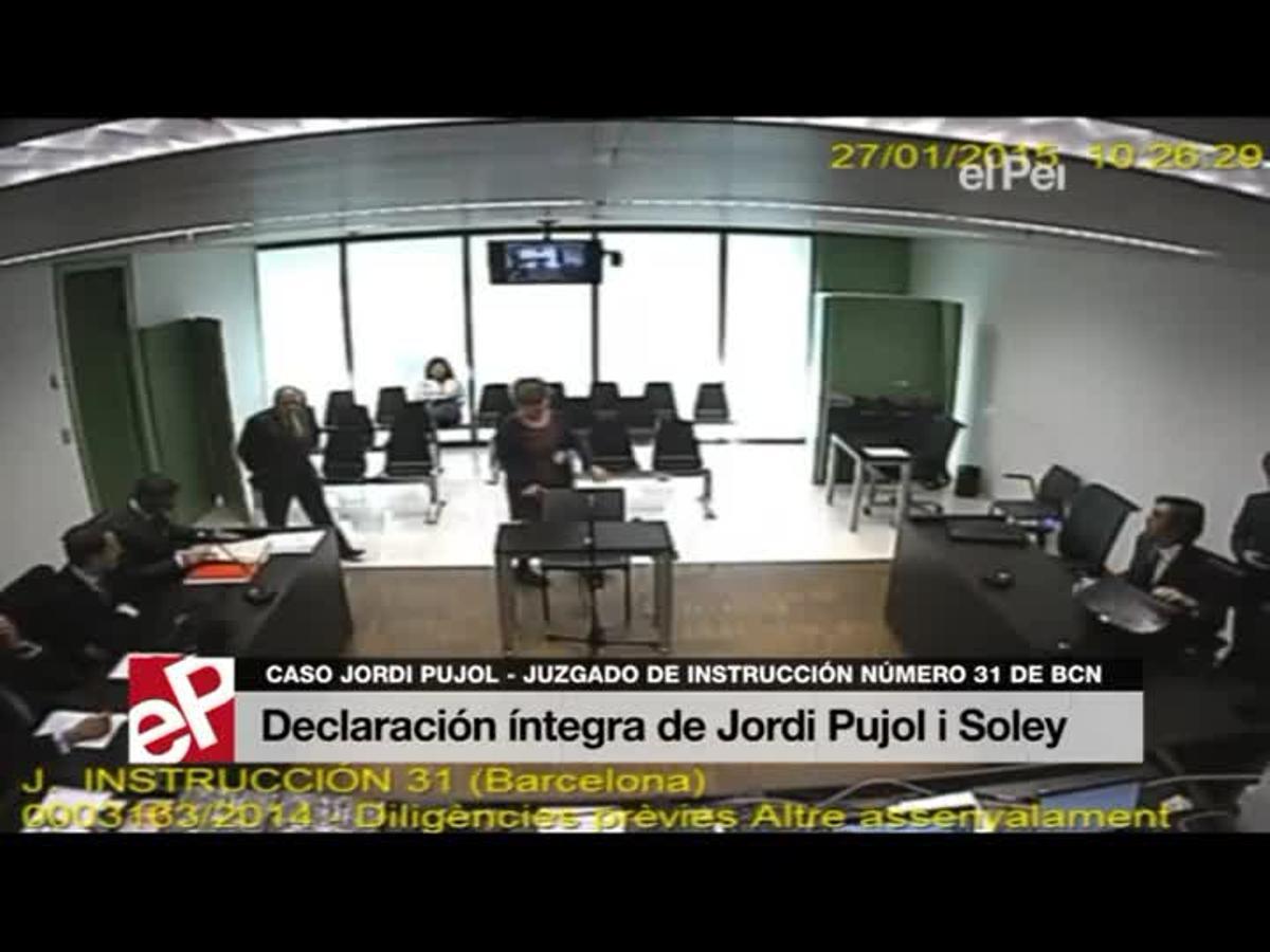 Declaración íntegra de Jordi Pujol i Soley.