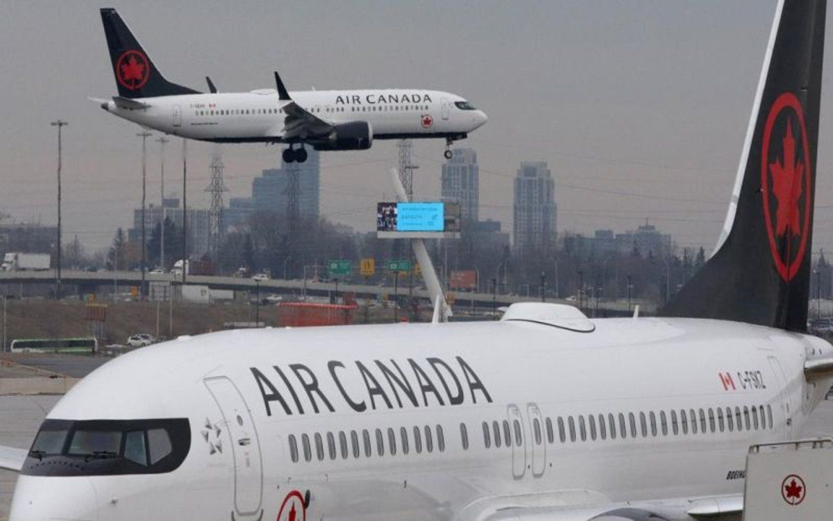 Aviones de la aerolínea Air Canada.