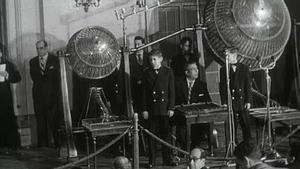 Un sorteo de mediados del siglo XX de la Lotería Nacional.