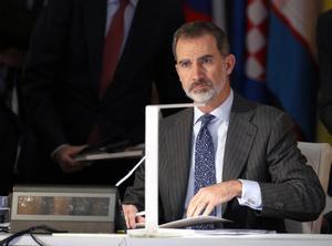 El rey Felipe VI durante la inauguración de la decimocuarta reunión ministerial del foro ASEM.