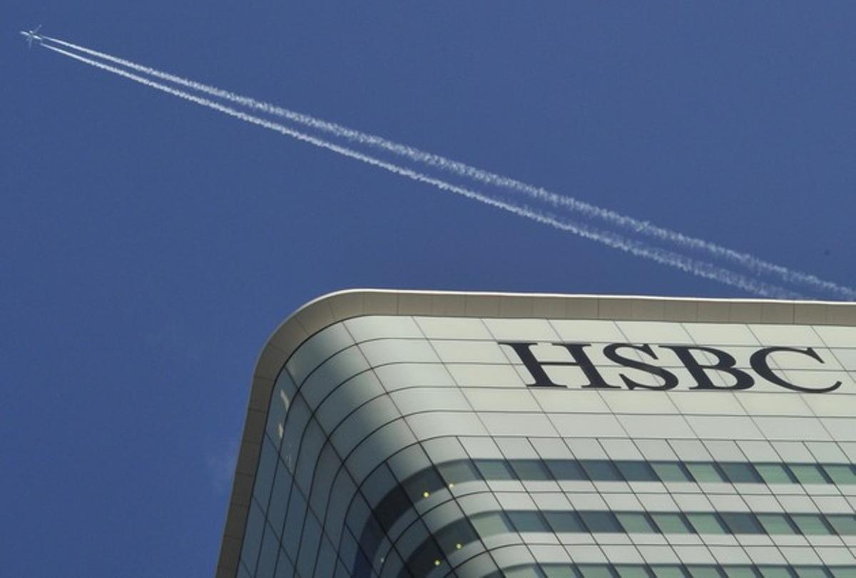 La sede central del banco HSBC en el distrito financiero de Londres.