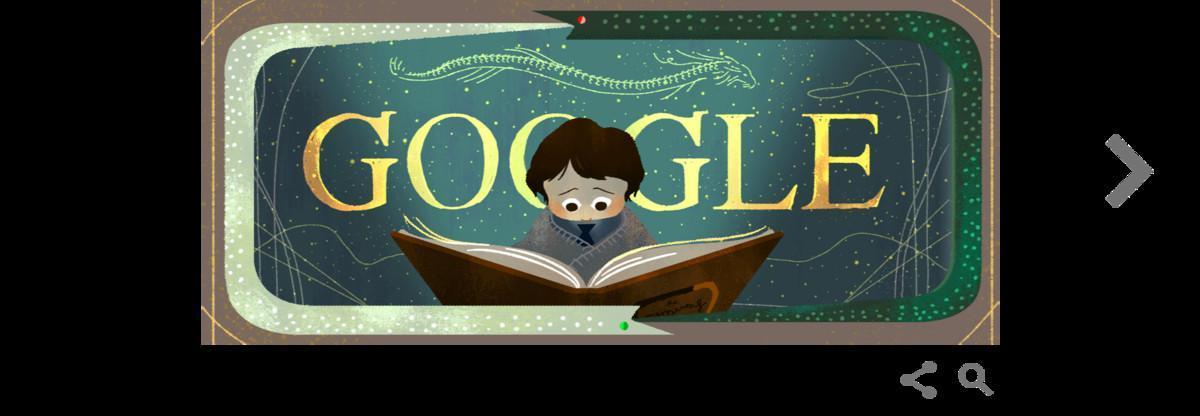 Doodle de Google de 'La historia interminable'.