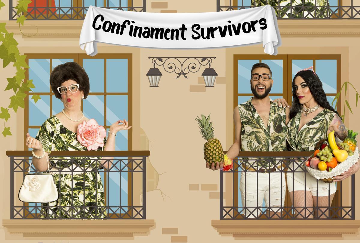 Cartel de la obra 'Confinamnet Survivors' de Els Capdevila