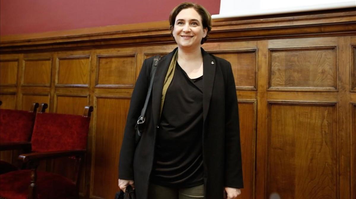 Ada Colau, durante un acto en Barcelona