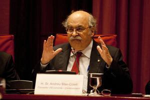 Andreu Mas-Colell, en el Parlament, en una foto de archivo.