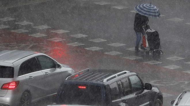 Fuerte tormenta en Valencia