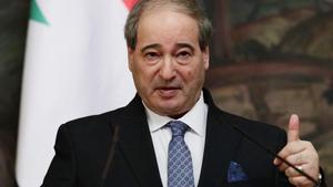El ministro de Exteriores sirio, Faisal Mekdad, en una fotografía de diciembre de 2020.