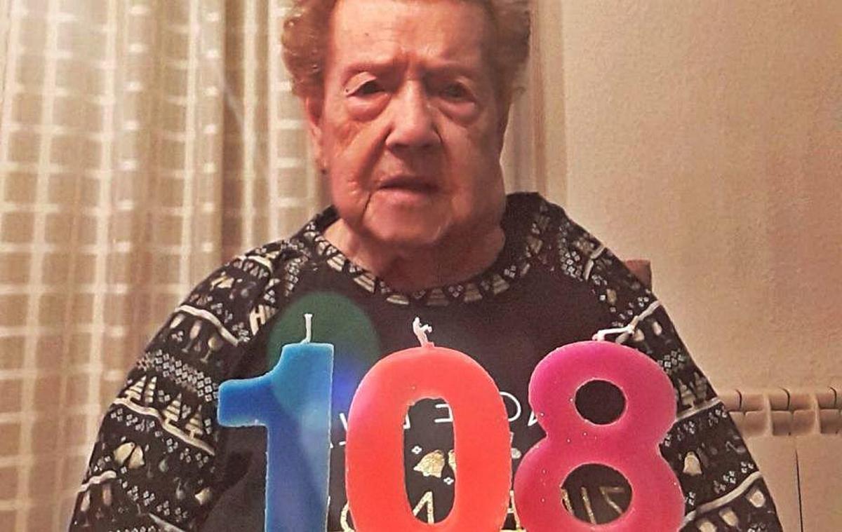 Filomena Penina Tomàs, la segunda mujer más anciana de Manresa, cumple 108 años.