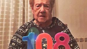 Filomena Penina Tomás compleix 108 anys després de viure dues pandèmies