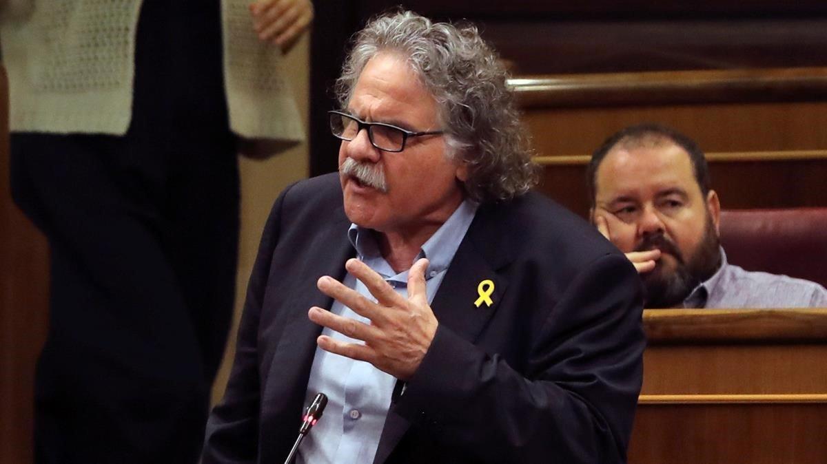 El portavoz de ERC, Joan Tardà, en el Congreso de los Diputados.