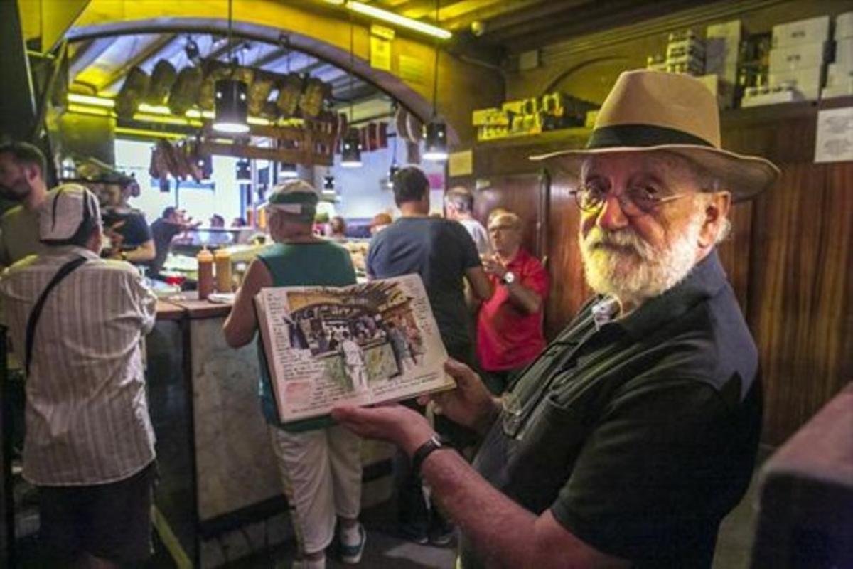 Joshemari Larrañaga: «Nietos y dibujos son mis compañeros de jubilación»
