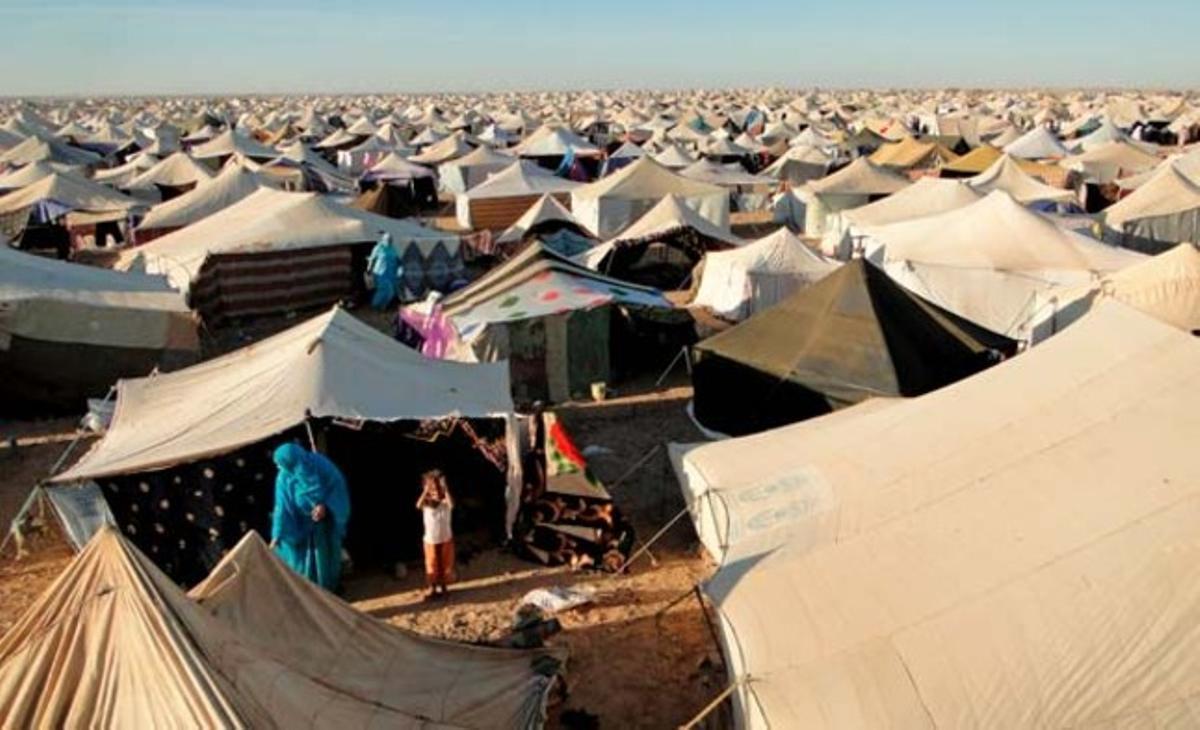 Vista general de un campo de saharauis desplazados, a 18 kilómetros de El Aaiún.