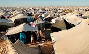 Vista general del campo de desplazados saharauis Gdeim Izi, a 18 kilómetros de El Aaiún, capital del Sáhara Occidental.