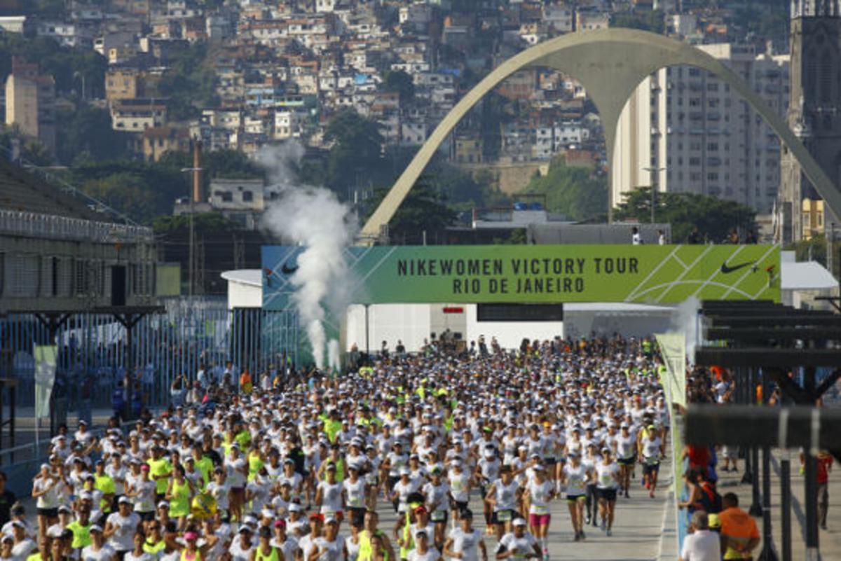 Un maratón de mujeres celebrado en el Sambódromo de Río el paso mes de abril.