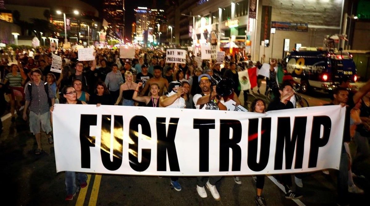 Segona nit de disturbis als EUA després de la victòria de Trump