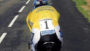 Una imagen de Armstrong, en acción, en una ccontrarreloj del Tour del 2005