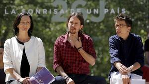 Carolina Bescansa, Pablo Iglesias e Ínigo Errejón, en una imagen de archivo.