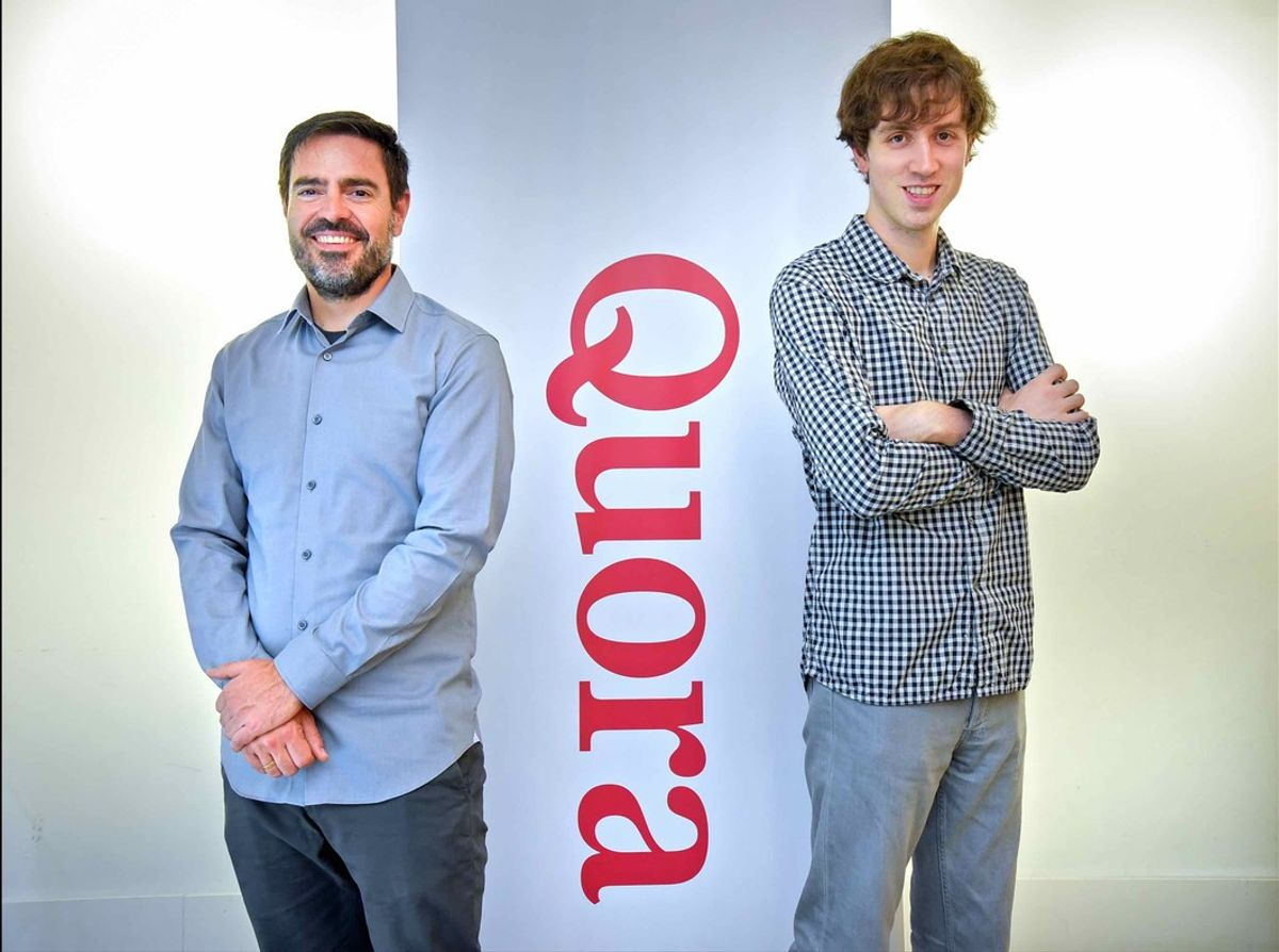 Los impulsores de Quora en España, Xavier Amatriain y Adam D'Angelo.