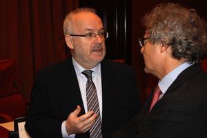 El presidente de la Corporació Catalana de Mitjans Audiovisuals (CCMA), Brauli Duart, este viernes.