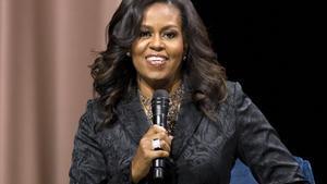 Michelle Obama, durante una conferencia a finales del mes pasado, en Washington.