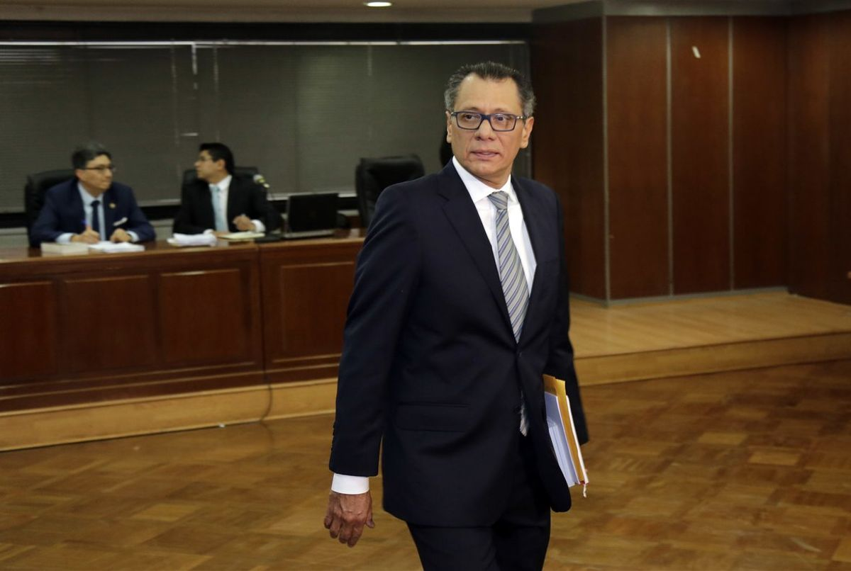 Glas fue ministro y vicepresidente durante la administración del exgobernante Rafael Correa (2007-2017).