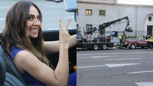 Mónica Naranjo en el rodaje del videoclip de 'Hoy no'.