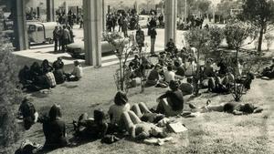 El campus de Bellaterra de la UAB, en 1976.
