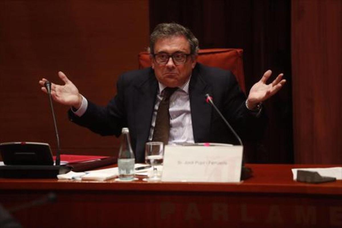 Jordi Pujol Ferrusola, en el Parlament en febrero del 2015.