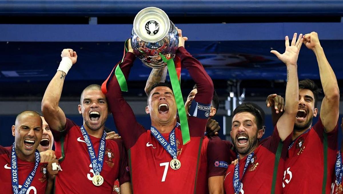 Portugal, último campeón de la Eurocopa.