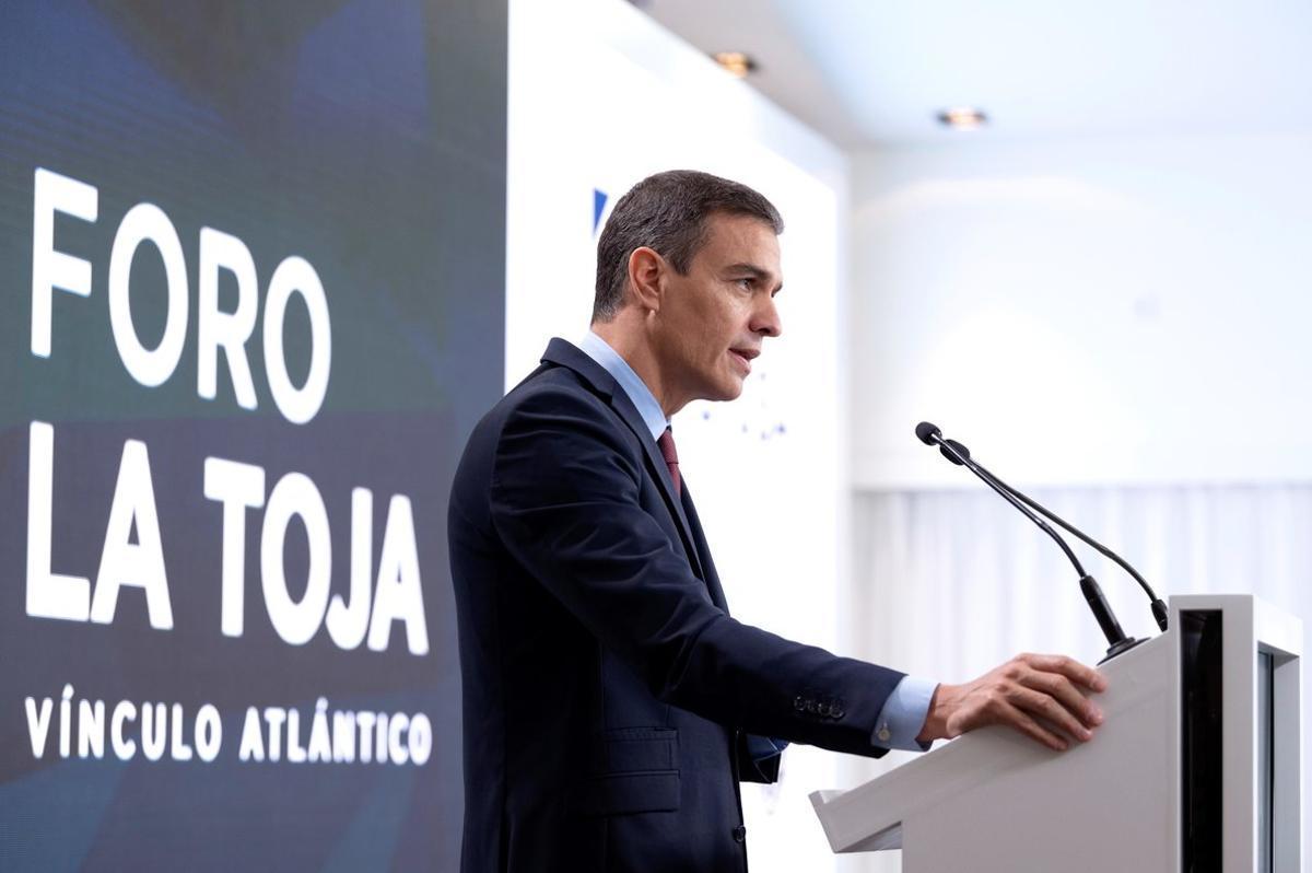 El presidente del Gobierno, Pedro Sánchez, el pasado 3 de octubre en la clausura del II Foro La Toja, en O Grove (Pontevedra).