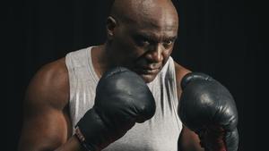 Armando Buika, como Jack Johnson, listo para 'El combat del segle'.