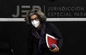 La magistrada Julieta Lemaitre, de la Sala de Reconocimiento.