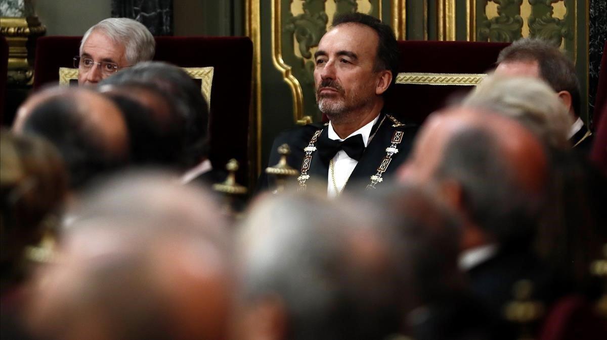 El Supremo revoca el tercer grado a los presos del 'procés'. En la foto, Manuel Marchena.