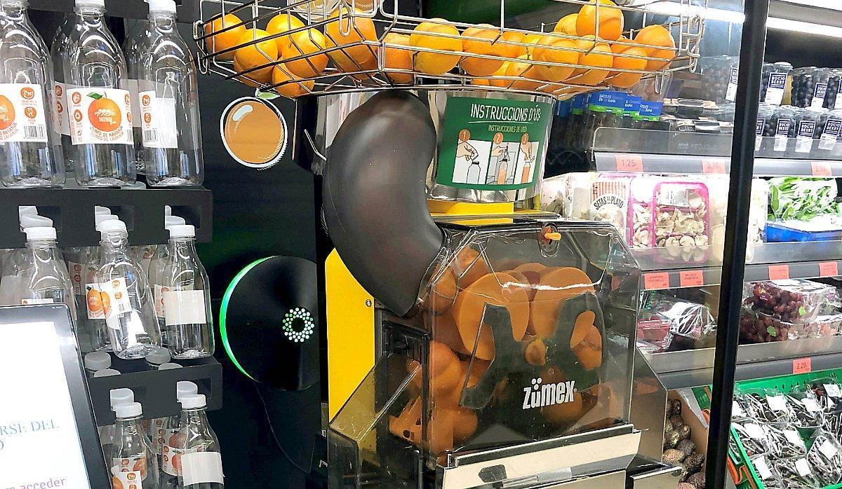 Exprimidor Zumex en un Mercadona.