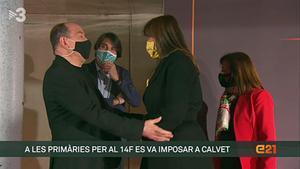 Laura Borràs y el abrazo de Sanchis (TV-3).