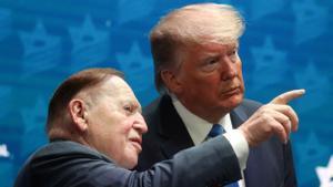 Sheldon Adelson y Donald Trump