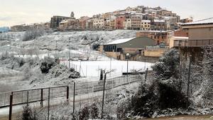 Horta de Sant Joan amaneció nevada el viernes 8 de enero del 2021.