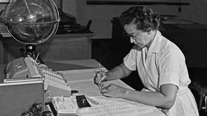 Katherine Johnson, científica afroamericana que se convirtió en todo un símbolo de la NASA.