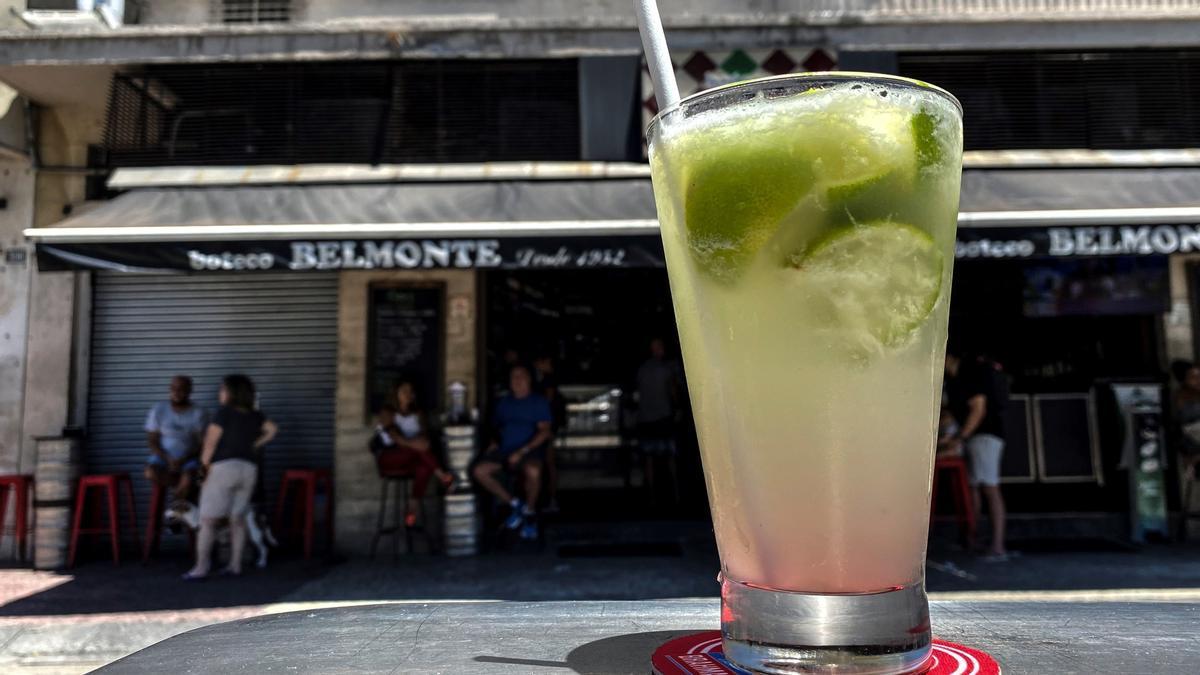 Una caipiriña en un bar de Río de Janeiro.
