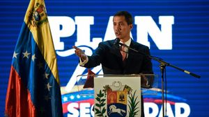 El auto proclamado presidente de Venezuela, Juan Guaidó.