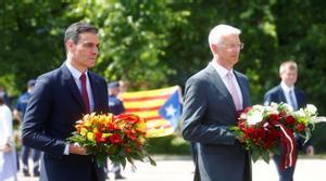 El presidente del Gobierno, Pedro Sánchez, y el primer ministro letón, Arturs Krišjānis Kariņš, este 7 de julio en la capital del país, Riga