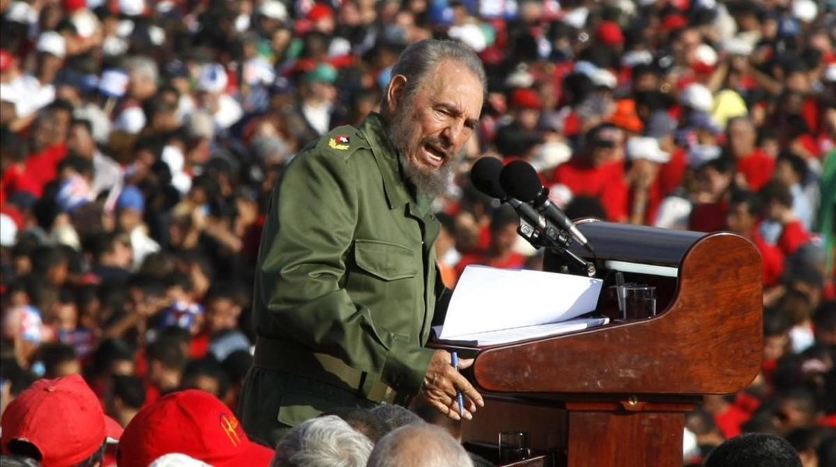 Fidel Castro, el 1 de mayo del 2006 en La Habana.