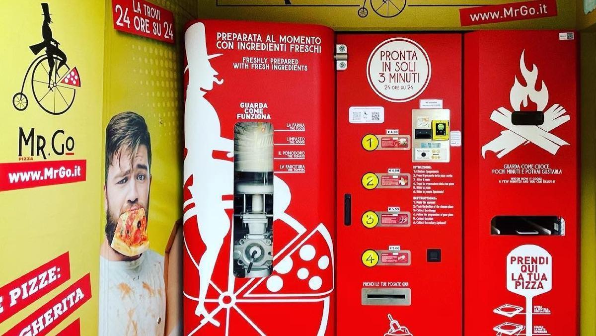 Roma estrena la primera màquina expenedora que cuina pizzes al moment
